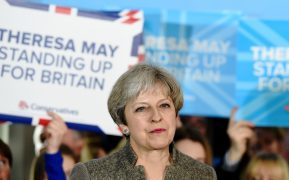 Prime Minister Theresa May makes her first campaign visit to Scotland at a Conservative rally at Crathes Village Hall, Banchory, Aberdeenshire, ahead of June's snap general election.     Pictured - Prime Minister Theresa May at the rally. Picture and video by Kami Thomson