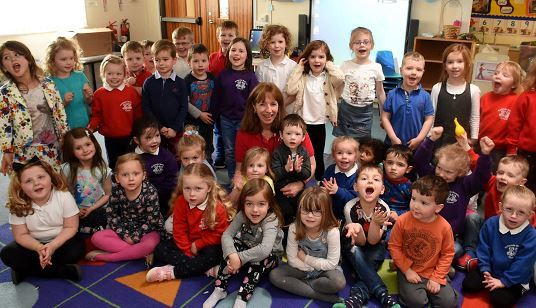 Teacher Gill Macaulay retires from Kellands Primary School after 39 years in the job.
