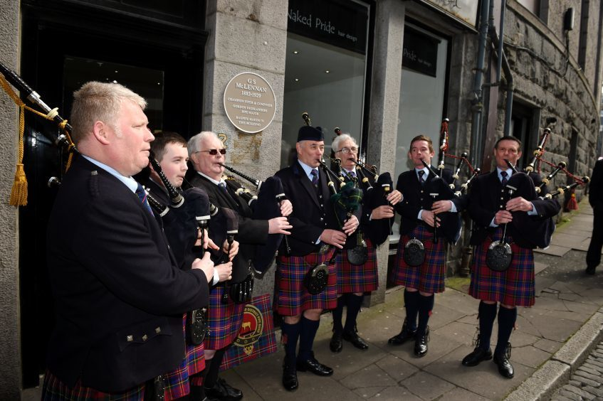 The Bucksburn Pipe Band.