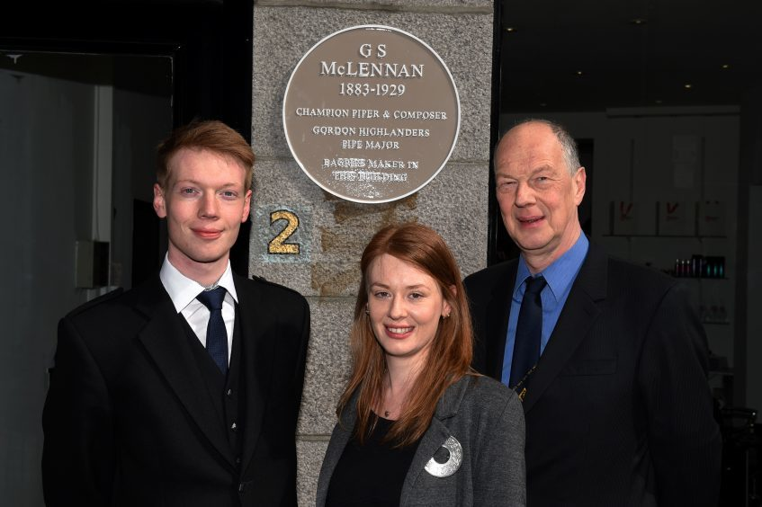G.S. McLennan's grandson Hamish Mclennan with his children Calum and Shonagh.
