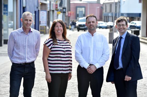 John Pascoe, Katrina Allan, John Cameron and Iain Sutherland launched  the project last year.