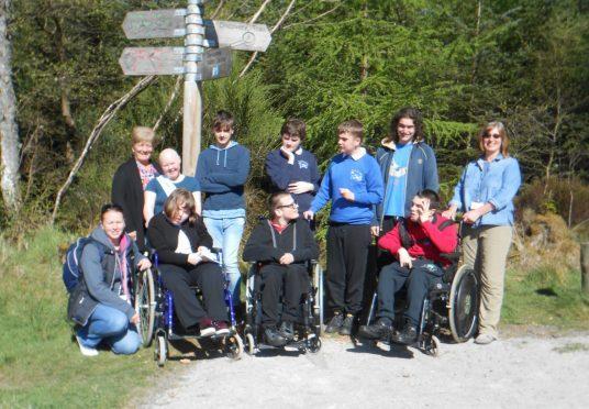 Pupils from St Andrew's School, Inverurie enjoy the newly upgraded paths around Bennachie.