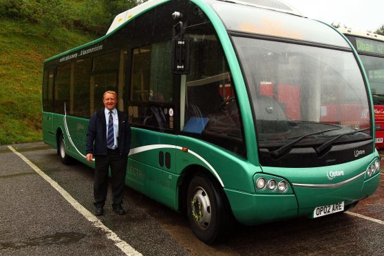 Electric Bus On Trial In Oban Press And Journal