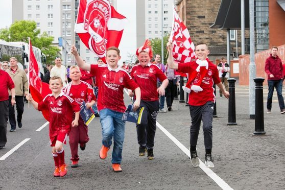 Dons fans before the kick-off
