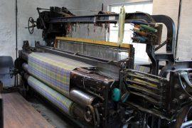 Knockando Woolmill weaving loom. Picture by Credit Emma Nicolson.