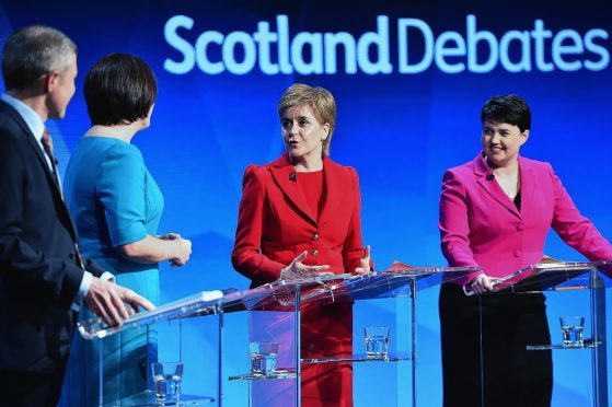 STV Hold Televised Leader's Debate Ahead Of The Holyrood Elections