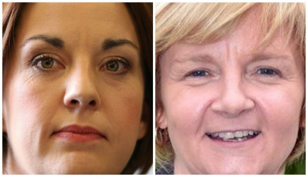 Labour leader Kezia Dugdale and Aberdeen Labour group leader Jenny Laing