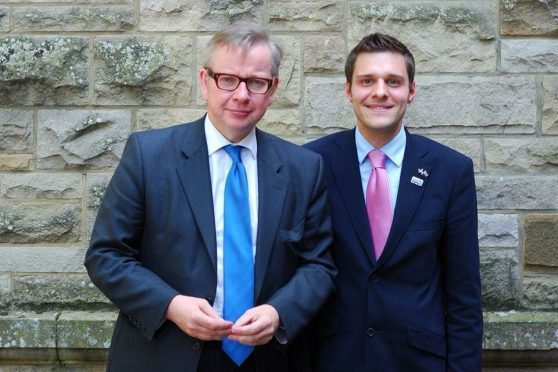 Michael Gove with Ross Thomson