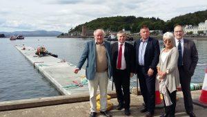 Councillors Jamie McGrigor, Kieron Green, Roddy McCuish, Elaine Robertson and Jim Lynch visiting the site.