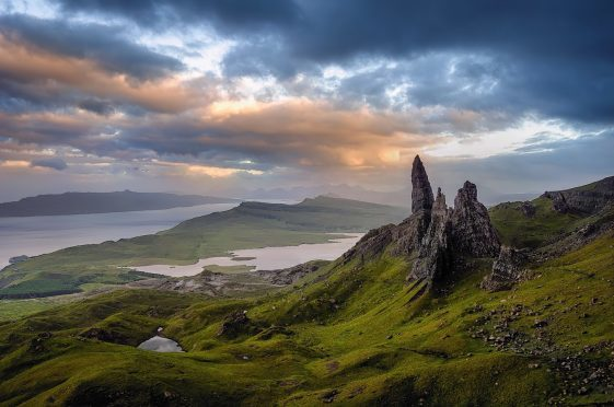 The Old Man of Storr on Skye.
