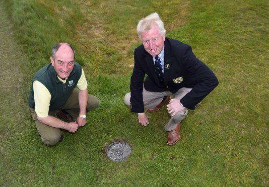 Royal Dornoch general manager Neil Hampton (left) and Captain Alan Ramsey
