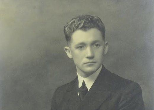SCOTTISH MERCHANT NAVY CHIEF OFFICER GEORGE STRONACH, PICTURED IN UNIFORM.