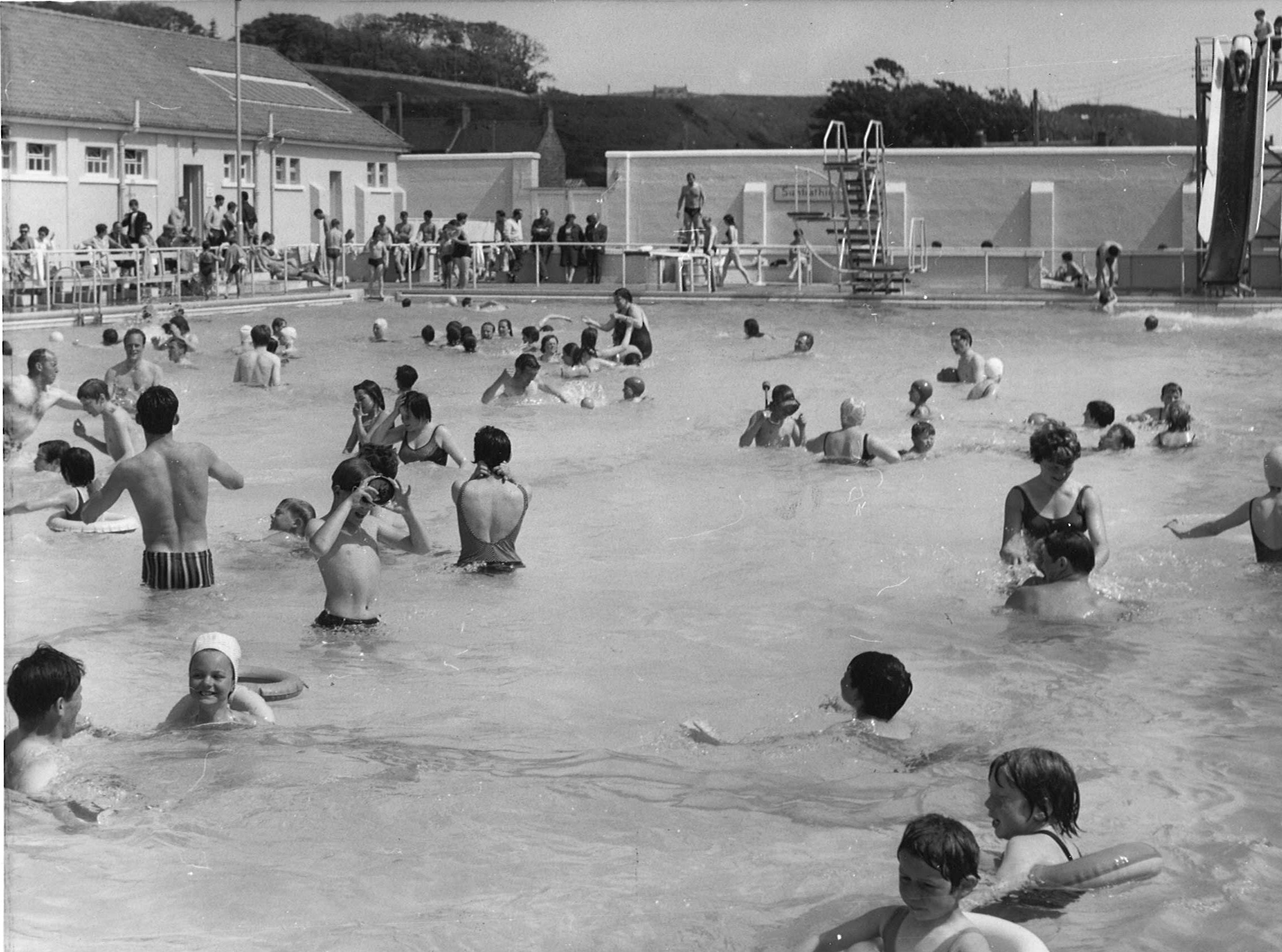 The pool in 1974