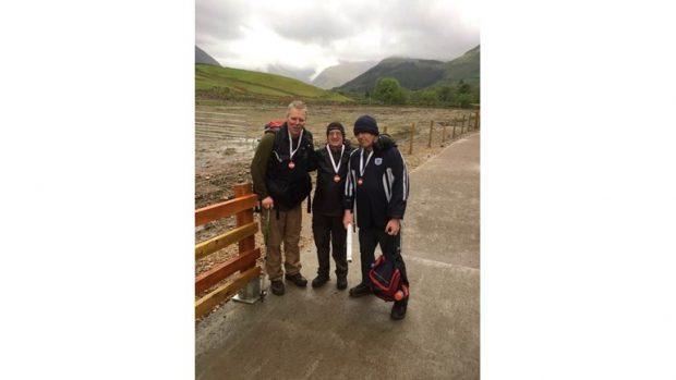 Tony Woodward, Bob Archer and Peter Ogilvie in Lochaber