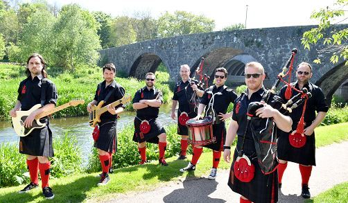 Red Hot Chilli Pipers stop-off in Ellon