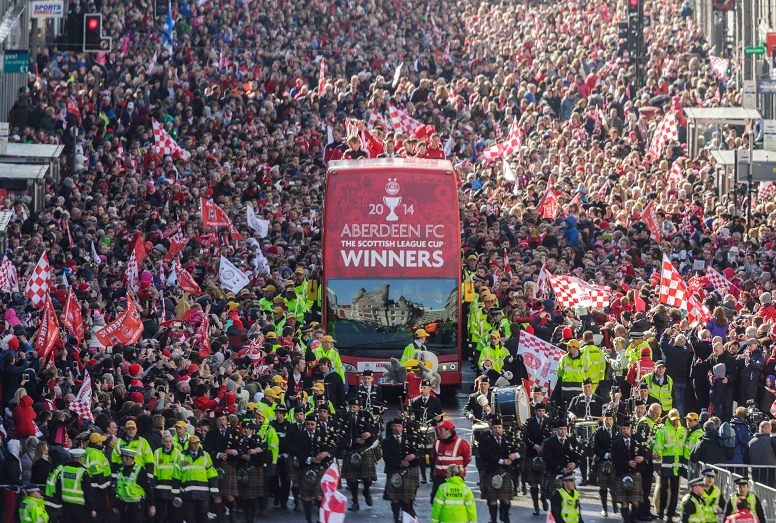 Aberdeen urged to paint the town red and white ahead of Scottish Cup Final