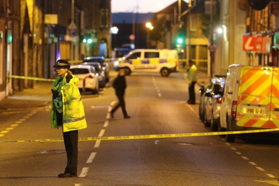 Grant Street was cordoned off while police carried out an investigation.