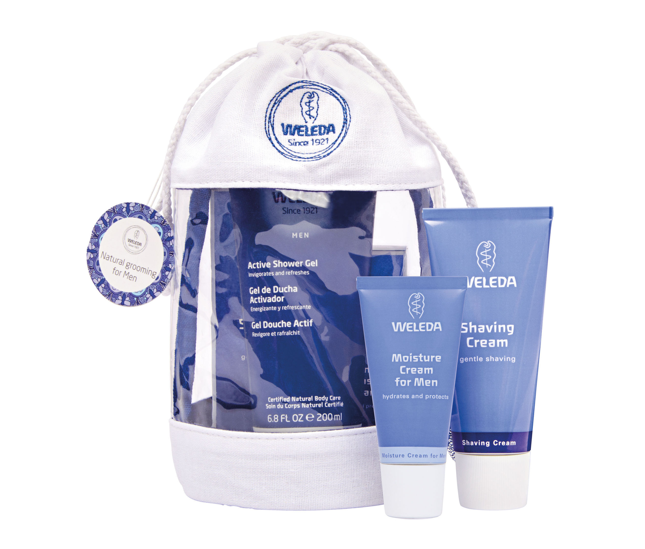 Weleda Mens Wash Bag Gift, available from weleda.co.uk. Picture credit: PA Photo/Handout.