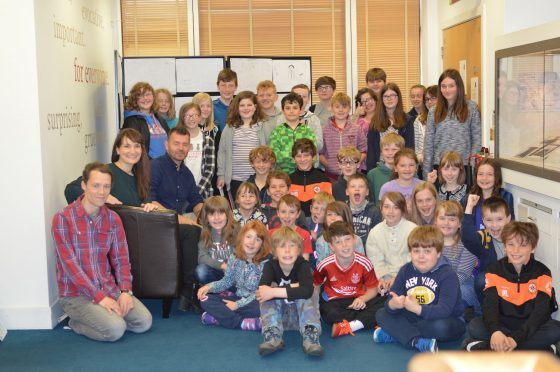 The staff and pupils involved in the exhibition
