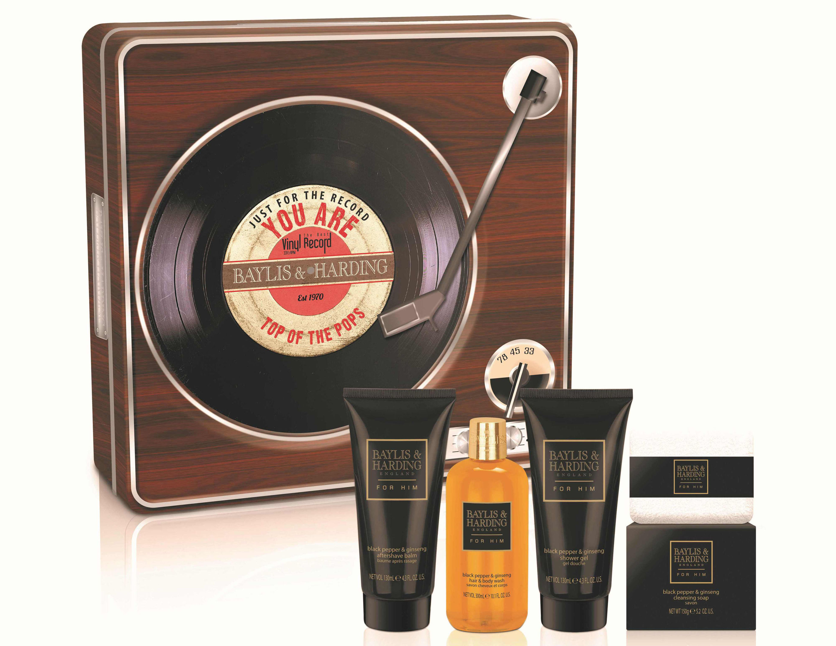 Baylis and Harding Retro Record Player Gift Set, available from House of Fraser. See PA Feature BEAUTY Grooming. Picture credit : PA Photo/Handout.