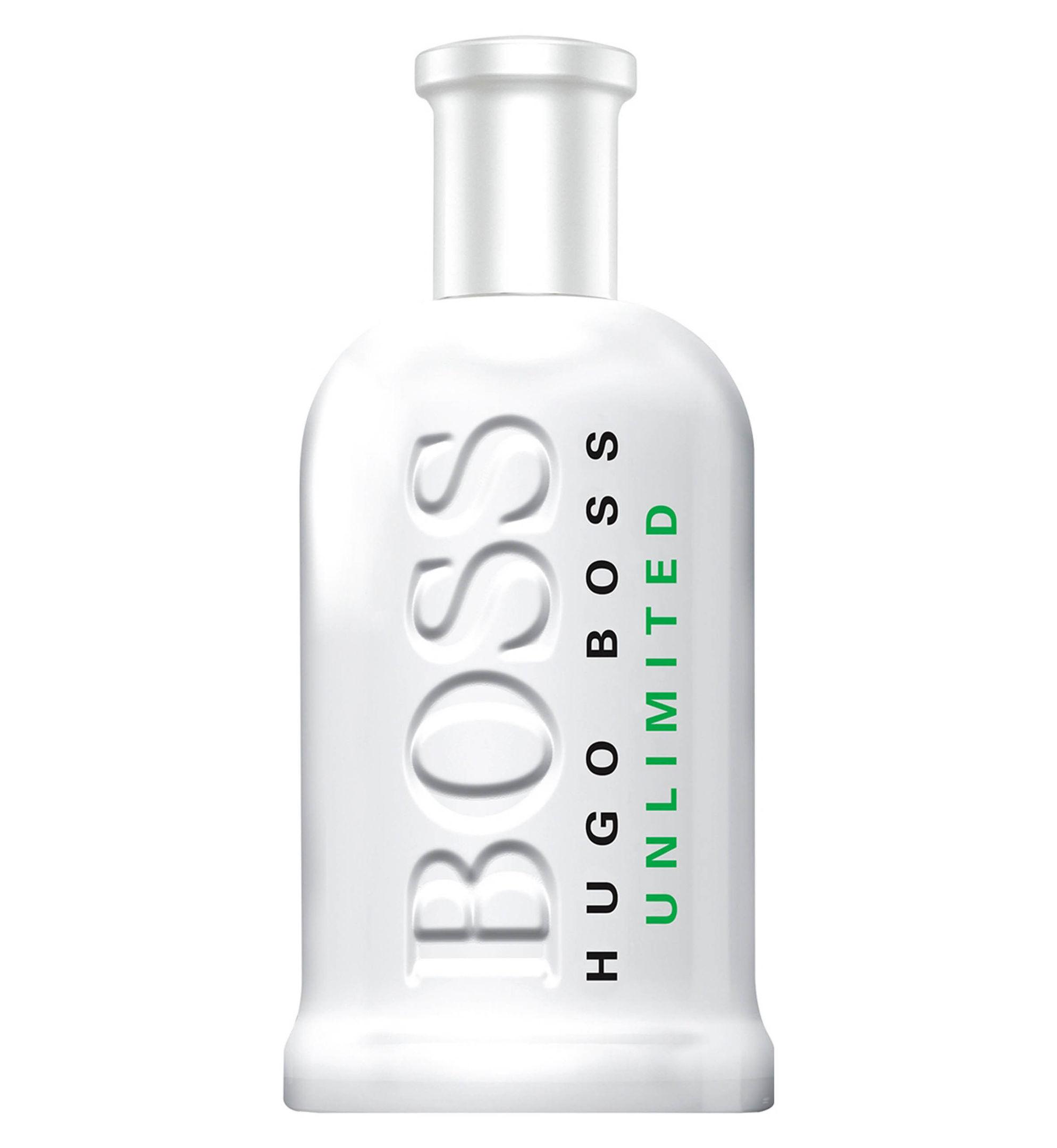 Boss Bottled Unlimited Eau de Toilette, available from Boots. Picture credit: PA Photo/Handout.