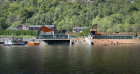 An artists impression of the proposed visitor centre on Loch Ness
