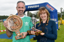 Ythan Challenge 2017, multi-terrain adventure race, Ellon, Aberdeenshire. Picture of overall male and female winners (L-R) Jim Tole and Victoria Bailia. Picture by KENNY ELRICK