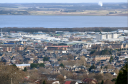 Inverness as seen from Leachkin above the city. Longman Industrial Estate