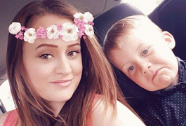 Kerri Graham with her son Riley