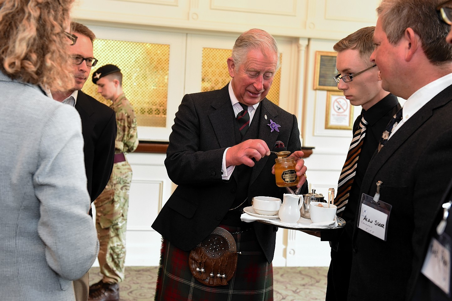 Prince Charles at Thainstone House. Picture by Jim Irvine