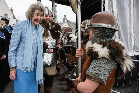 Lord Lieutenant Clare Russell at last year's boat festival.