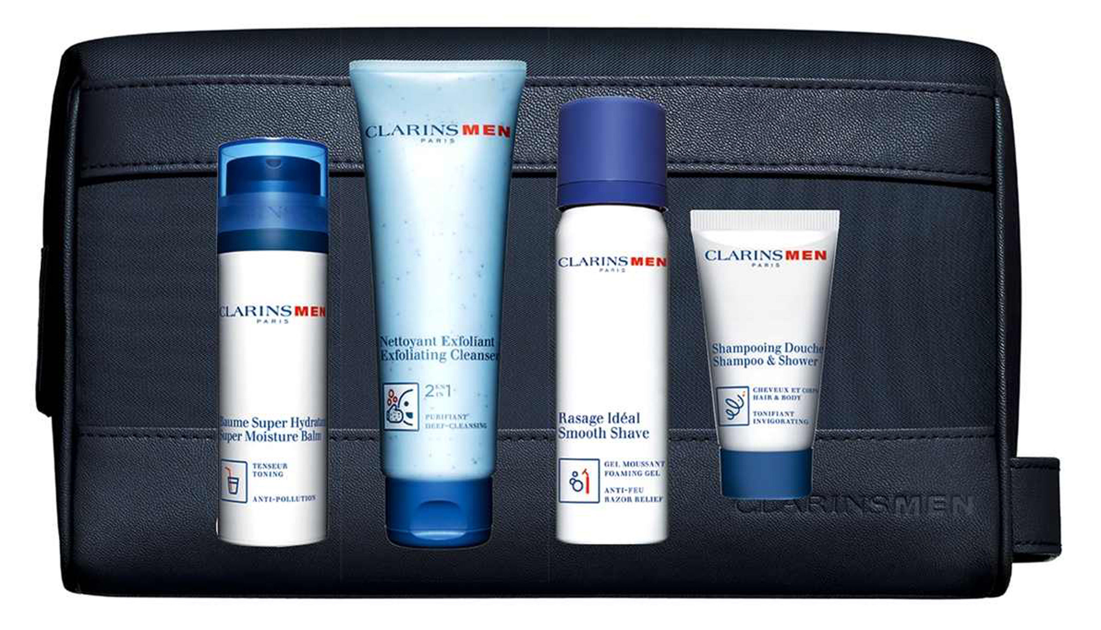 Clarins Grooming Champions Set, available from Boots. Picture credit: PA Photo/Handout.