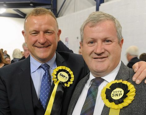 Drew Hendry and Ian Blackford. Pic by Sandy McCook
