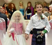 Picture of Eileidh Paterson, 5, and and Harrison Grier, 6. Pictures and video by Kenny Elrick.