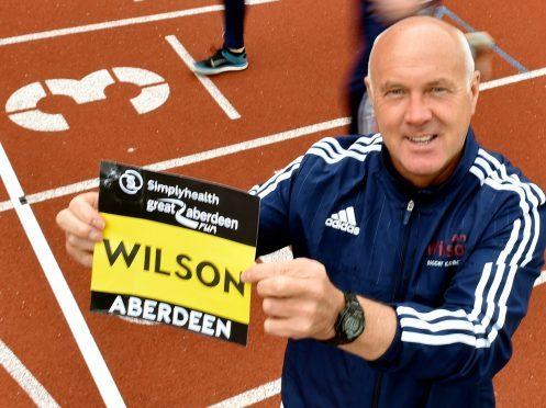Ex Scotland footballer Ian Wilson (centre). Picture by Colin Rennie