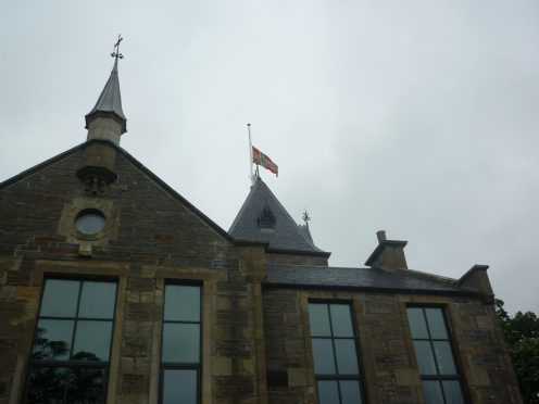 The Orkney flag flies at half-mast in tribute to Keith Johnston