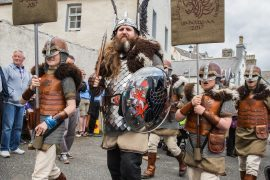 The Vikings at Portsoy Boat Festival.