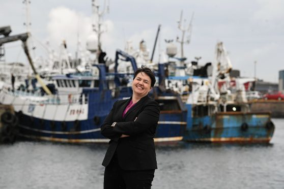 Ruth Davidson on the campaign trail