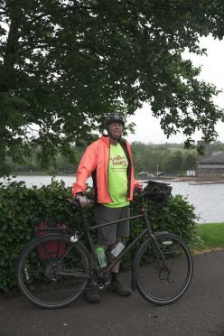 Tony Gear has been cycling from his home in the Isle of Wight to John O'Groats.
