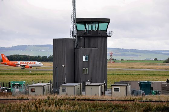 Air traffic control at Inverness.