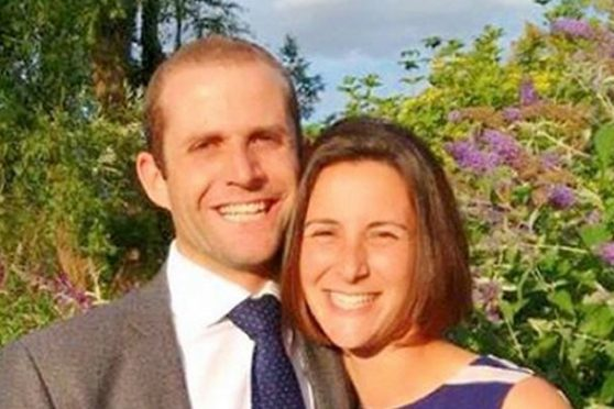 Ben Abrahams with his wife Kate.
