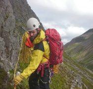 The Cairngorm Mountain Rescue Team was called out when a climber fell 30 feet down Ptarmigan Ridge.