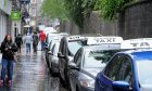 Back Wynd Taxi rank in Aberdeen.