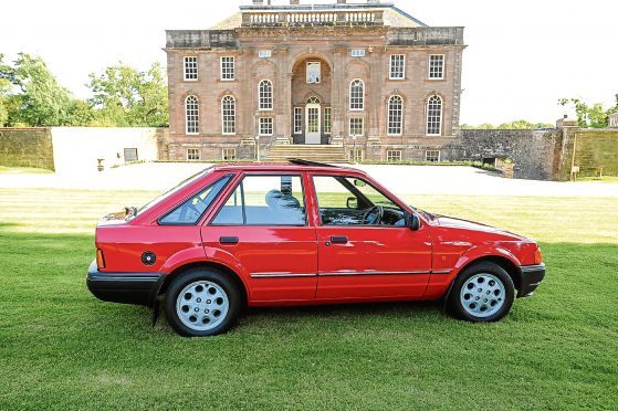 The Mark IV Ford Escort owned by Steven Bruce
