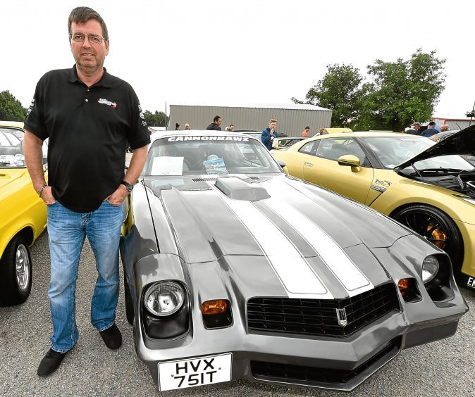 Stan Bradley, Forres, with his 1979 Chevrolet Camero 5ltr.