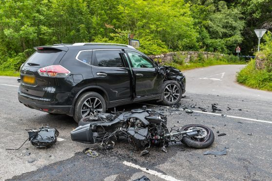 This is the scene of the crash on the A862.