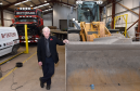 Bert McIntosh owner of McIntosh Plant Hire (Aberdeen) Limited, at their workshop at Birchmoss Plant & Storage Depot.