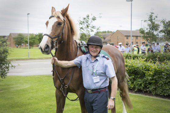 Warrant Officer Ken Prentice after his ride on Red.