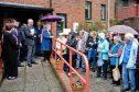 A demonstration at Glen Iosal complex