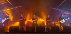 The Red Hot Chilli Pipers stole the show on Saturday night
